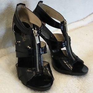 Michael Kors black zippered heels